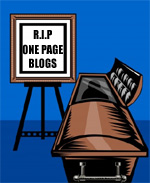 Are 1 Page Blogs Now Dead?